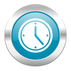 time internet blue icon