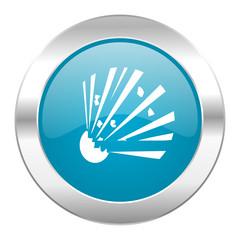 bomb internet blue icon