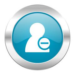 remove contact internet blue icon