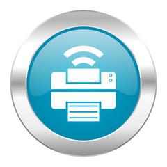 printer internet blue icon