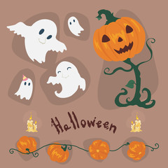 Halloween vector Icons set .