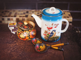 Russian traditional pottery
