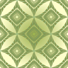 Seamless green abstract background with rhomboid patterns