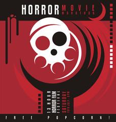Horror film festival unique poster design