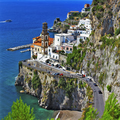 pictorial Amalfitana coast - view of Atrani village