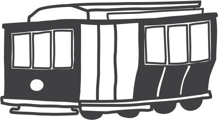 illustration of popular historical San Francisco cable car