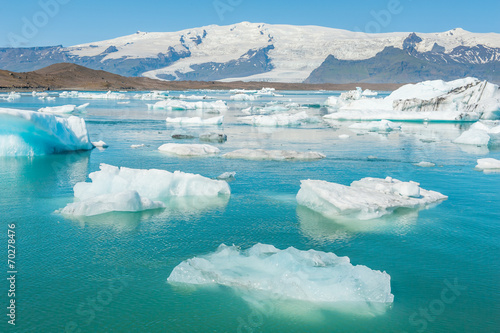 Leinwandbild Motiv Glacier lake