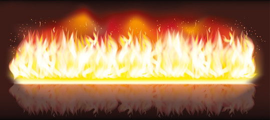 Burn flame fire banner vector illustration