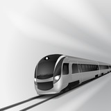 Modern high speed train 2