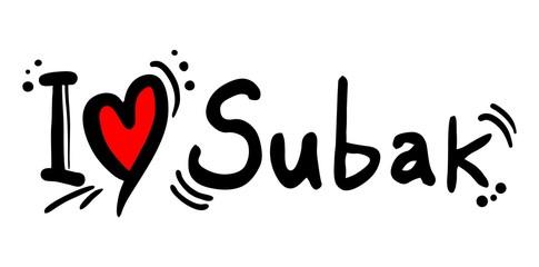 Love subax