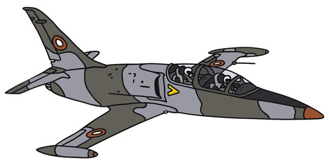 Hand drawing of a jet aircraft - not a real type