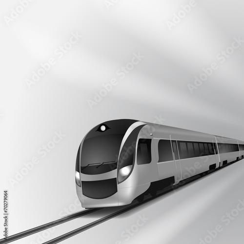 Modern high speed train 2 - 70279064