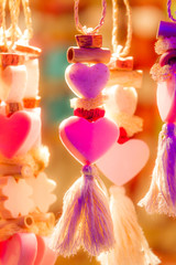 Kitschy neon hearts