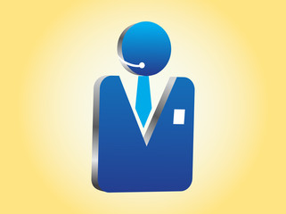 Vector 3D Businessman Icon