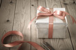 Leinwanddruck Bild - Wrapping of Gift Box with Vintage Effect