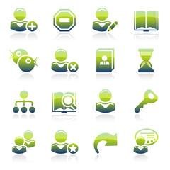 Users green icons.