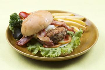 beef bacon hamburger
