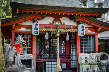 tsuta shrine , one of the oldest shrine in Japan.