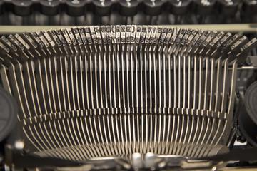 Antique typewriter close up