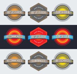 Retro badges. EPS10.