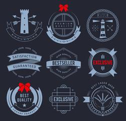 Promo badges on dark background. EPS8.