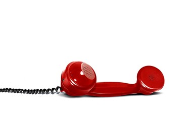 Retro Red Telephone Receiver