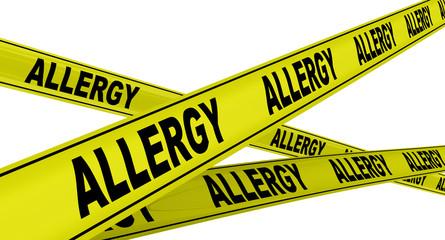 Аллергия (allergy). Желтая оградительная лента
