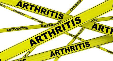 Артрит (arthritis). Желтая оградительная лента