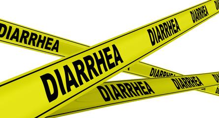 Диарея (diarrhea). Желтая оградительная лента