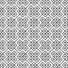 Black and White Square Geometric Repeat Pattern Background
