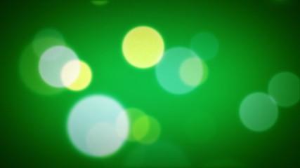 Soft Focus Light Particles Green