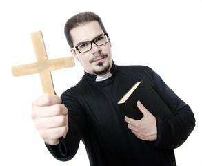 Isolated priest
