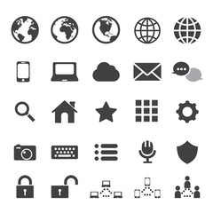 internet and communication icon