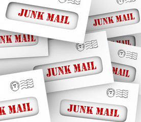 Junk Mail Pile Stack Envelopes Direct Marketing Advertising Lett