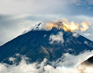 Eruption of a volcano Tungurahua, Ecuador