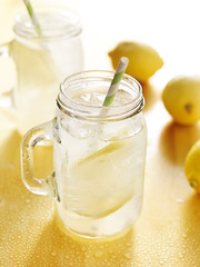 mason jars filled with homade lemonade