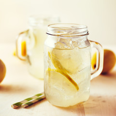 homemade lemonade shot with style instagram filter