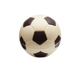 Tasty soccer ball made of mixed chocolate