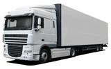 White truck DAF XF