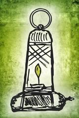 alte Öllampe...