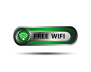 Free WiFi wireless button vector