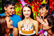 Girl having birthday