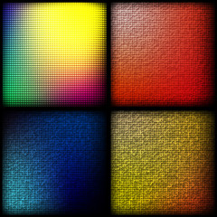яркие цветные квадраты на темном фоне