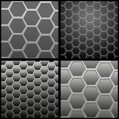 металлическая сетка на темном фоне