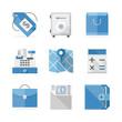 Commerce and finance flat icons set