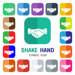 Shake hand Icon. Handshake icon