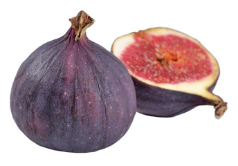 Fresh figs on a white