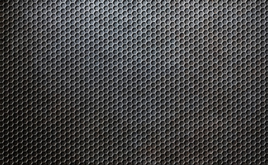 grunge metal comb grid or grille background