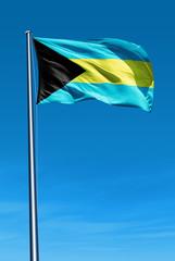 Bahamas flag waving on the wind