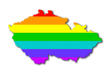 Rainbow flag pattern - Czech Republic